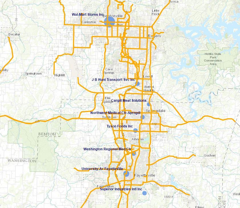 Map Of Northwest Arkansas Interactive GIS Maps | Northwest Arkansas Regional Planning Commission Map Of Northwest Arkansas